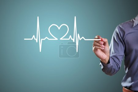 Photo for Drawing symbols heart health - Royalty Free Image