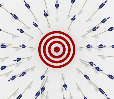 Photo for Tens of arrows that have missed the target - Royalty Free Image