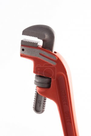 Orange Pipe Wrench.