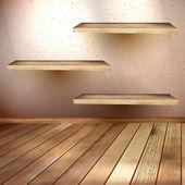 Empty wooden shelf background EPS 10