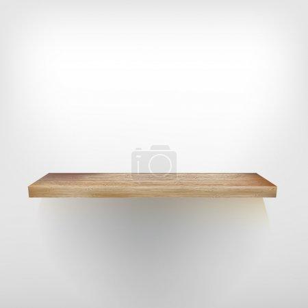 Isolated Empty shelf for exhibit. + EPS10
