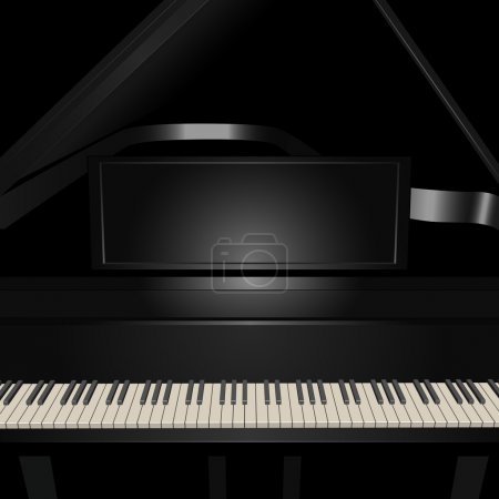 Background with pianoforte.