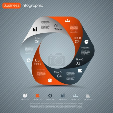 Illustration for Layout for your options. Can be used for info graphic. - Royalty Free Image