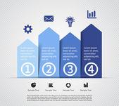 Moderne Info Vektorgrafik für Business-Projekt