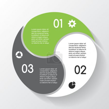 Illustration for Layout for your options or steps. Abstract template for background. - Royalty Free Image