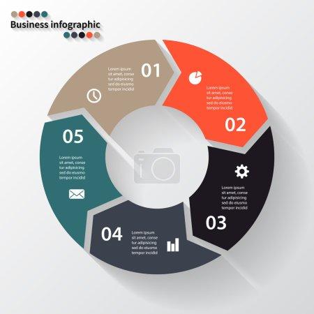 Illustration pour Mise en page pour vos options ou étapes. Modèle abstrait pour arrière-plan . - image libre de droit