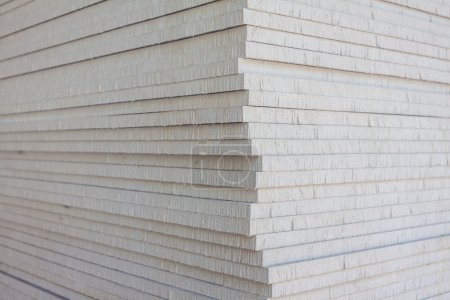 The stack of gypsum board