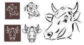 Line art of cow's head