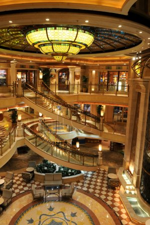 Lobby of Cruise Ship
