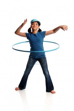 Young Girl With Hula Hoop