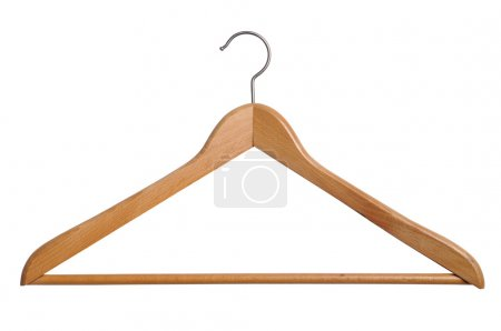 Photo for Coat hanger isolated over white background - Royalty Free Image