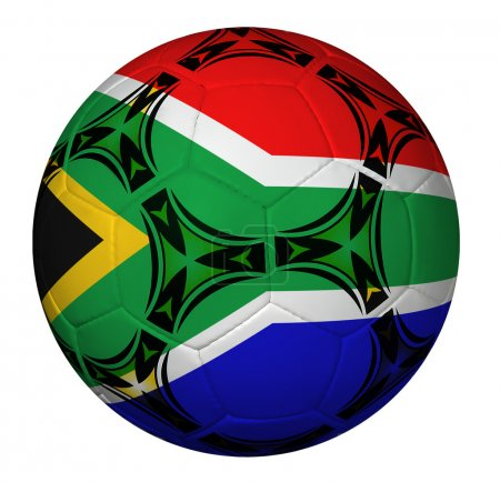 Soccer Ball With South Africa Flag