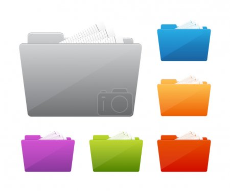 Collection of file folders icons