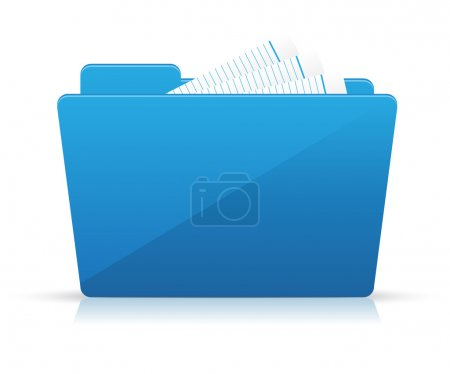 Blue file folder icon