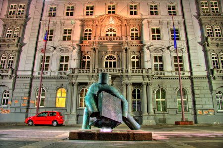 Statue of justice in HDR, Brno