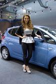 Hyundai hosteska na displeji na jedenáctý ročník Mezinárodní autosalon brno