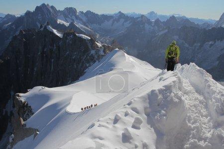 Mountain climbing - aiguille du midi