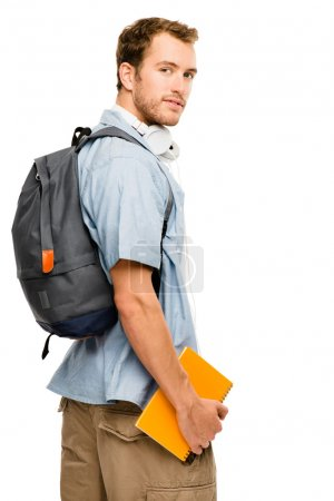 University college student man back to school