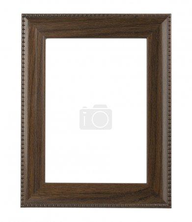 Photo pour Cadre photo en bois isolé sur blanc - image libre de droit