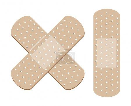 Illustration for Adhesive Bandage - Royalty Free Image