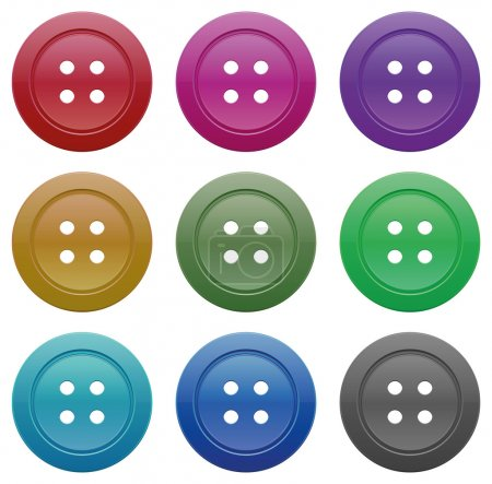Illustration for Buttons for garments vector on a white background - Royalty Free Image