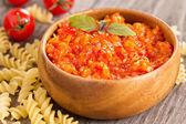 Baked vegetables pasta sauce