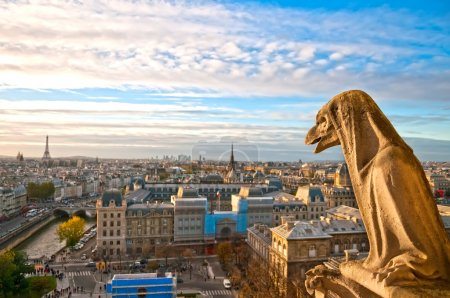 Gargoyle on Notre Dame de Paris