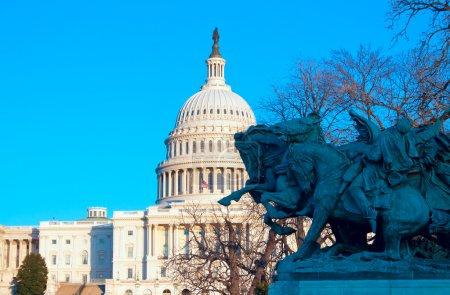 Capitol Building with clear blue sky, Washington DC, USA