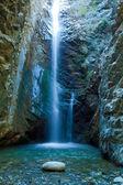 Chantara vodopády v pohoří trodos, Kypr