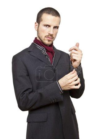Cool elegant young man