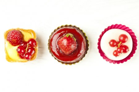 small beautiful red fruit pastry
