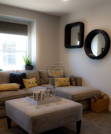 Small living room with sectional sofa
