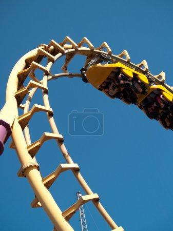 Photo pour Roller coaster - éditorial - image libre de droit