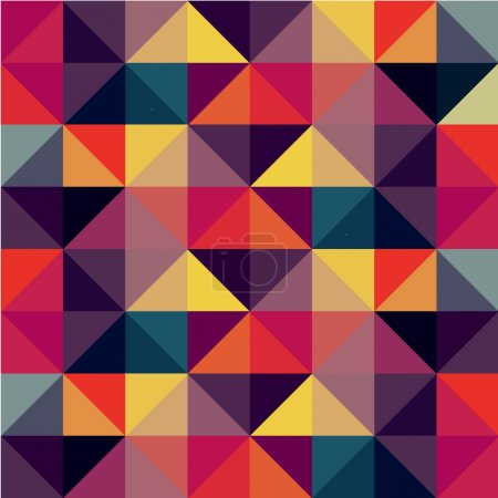 Illustration for Colorful Seamless Pattern with Triangles - Royalty Free Image