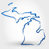 Map of michigan map concept