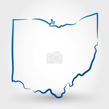 Map of ohio. map concept...