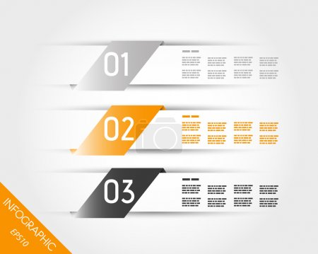 orange transparent three oblique stickers