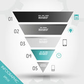 Turquoise infographic reversed pyramid infographic concept