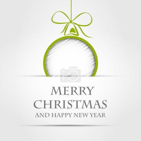 Illustration for Christmas ball. christmas ball concept - Royalty Free Image