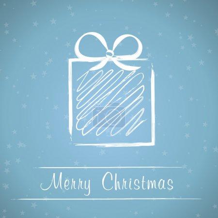 Illustration pour Cadre cadeau de Noël. Noël cadeau cadre concept - image libre de droit