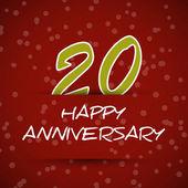 Happy anniversary card 20 anniversary concept