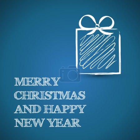 Illustration pour Bleu technique carré cadeaux de Noël - image libre de droit