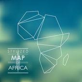 Stylizovaná mapa Afriky
