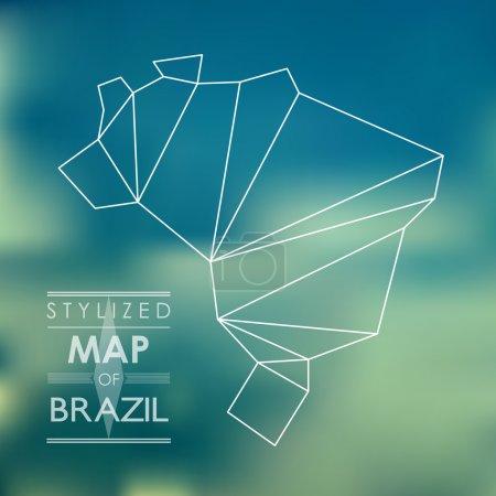 stylized map of Brazil