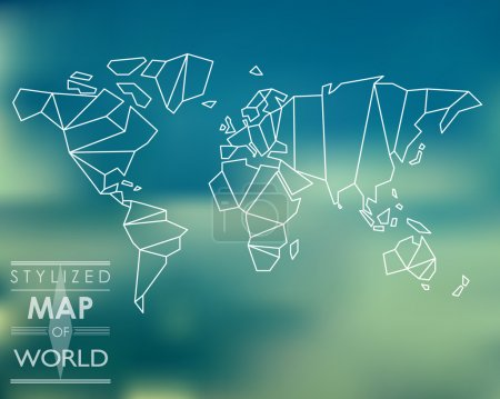 Illustration pour Carte stylisée du monde. concept de carte du monde. - image libre de droit