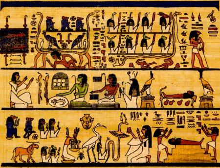 Photo pour Vieux papyrus égyptien et hiéroglyphe - image libre de droit