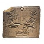 Akhenaten, Nefertiti and their children in a museu...