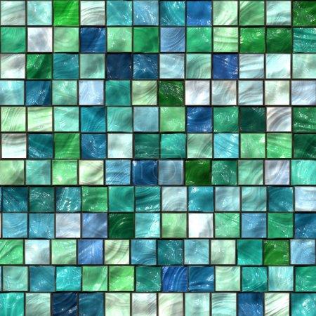 Green mosaic texture