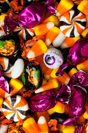 Photo for Full frame view of multicolored candies. - Royalty Free Image