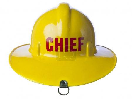 Yellow fire helmet